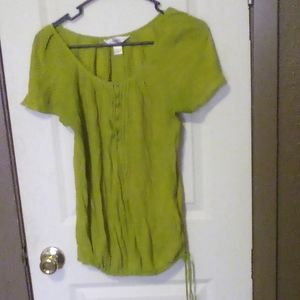 Kelly/lime peasant blouse